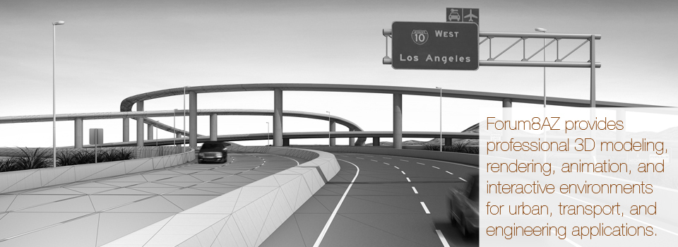 3D highway interchange modeling/rendering